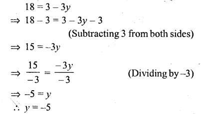 Selina Concise Mathematics Class 6 ICSE Solutions - Simple (Linear) Equations (Including Word Problems) - r18