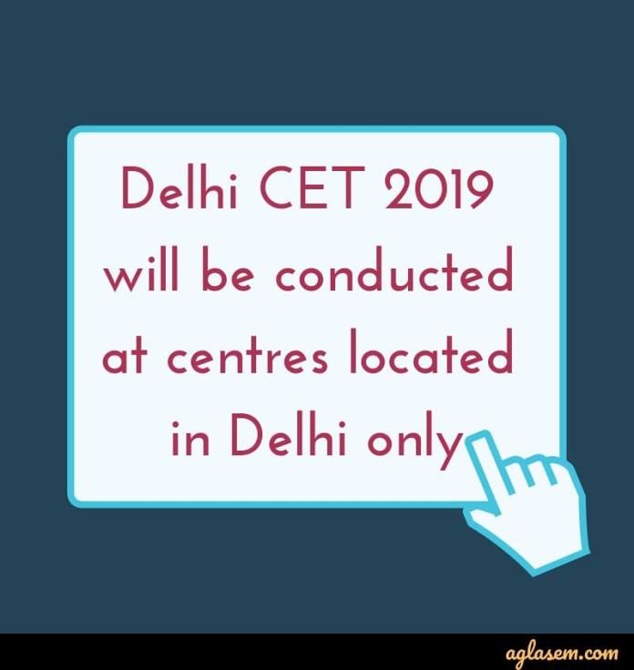 Delhi CET 2019