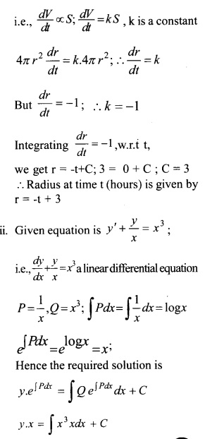 Plus Two Maths Chapter Wise Questions and Answers Chapter 9 Differential Equations 32