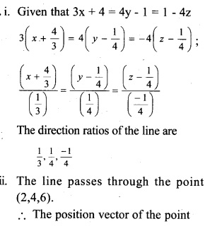 Plus Two Maths Chapter Wise Questions and Answers Chapter 11 Three Dimensional Geometry 13