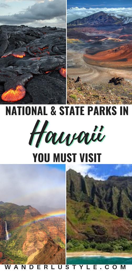NATIONAL & STATE PARKS IN HAWAII YOU MUST VISIT - Oahu, Big Island, Maui, Kauai - Hawaii Volcanoes National Park, Haleakala National Park, Na Pali Coast State Wilderness Park, Na Pali Coast, Pear Harbor | Wanderlustyle.com