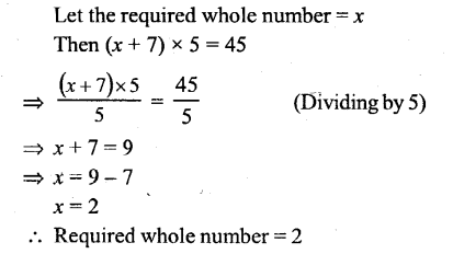 Selina Concise Mathematics Class 6 ICSE Solutions - Simple (Linear) Equations (Including Word Problems) - 4