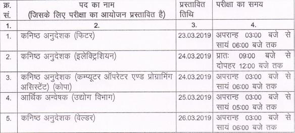 Detailed RSMSSB Junior Instructor Schedule