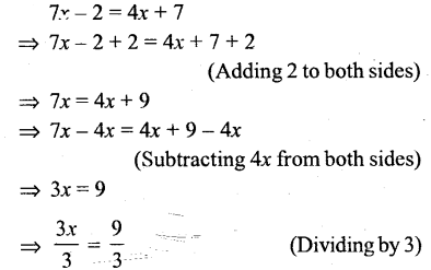 Selina Concise Mathematics Class 6 ICSE Solutions - Simple (Linear) Equations (Including Word Problems) - r25