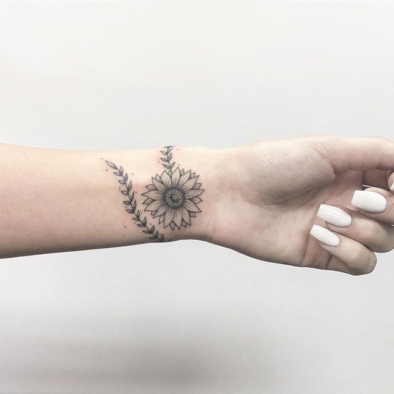 Sunflower Tattoo On Wrist: Astounding Ideas Tattoo Sunflower