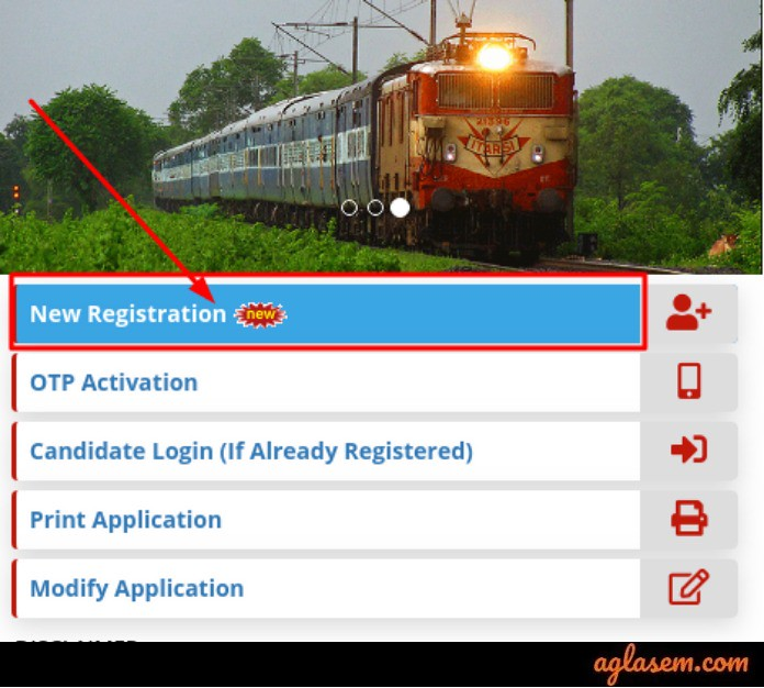 RRB Paramedical 2019 New Registration