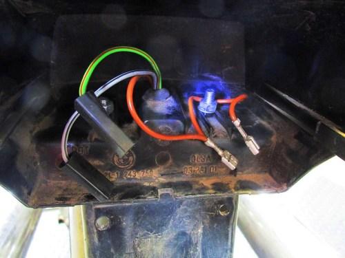 Rear Tail Light Wiring & Mounting Hardware Detail