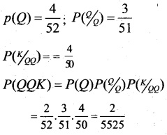 Plus Two Maths Chapter Wise Questions and Answers Chapter 13 Probability 40