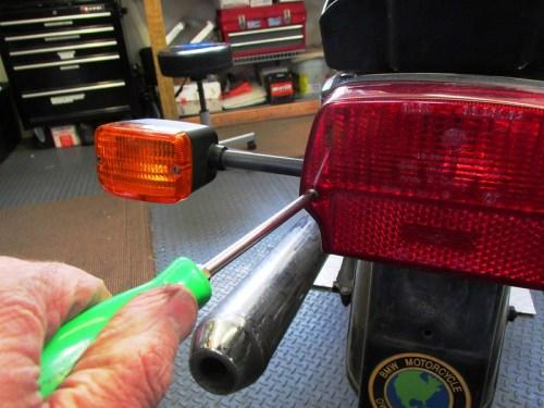 Removing Tail Light Lens Phillips Screws