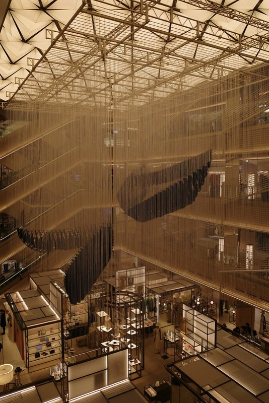 Chiharu Shiota art at Ginza Six
