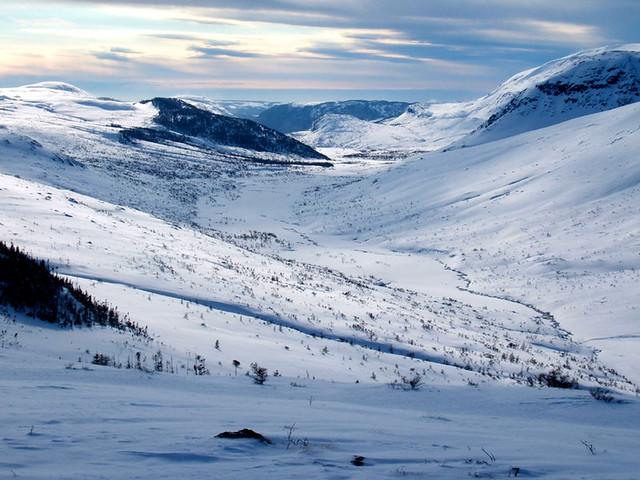 Lewis Hills Ophiolite Massif in Winter