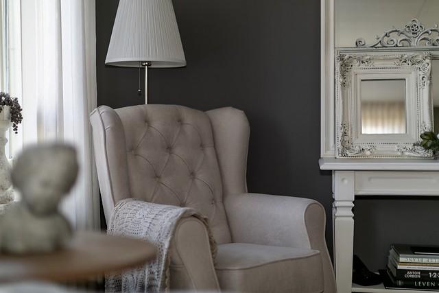 Landelijke fauteuil woonkamer