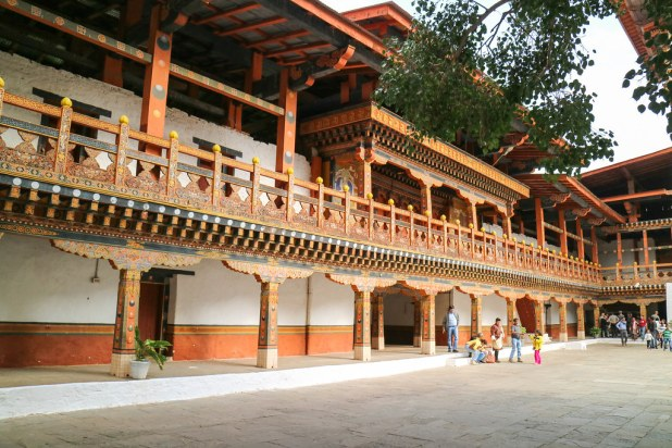 Interior del fuerte de Punakha