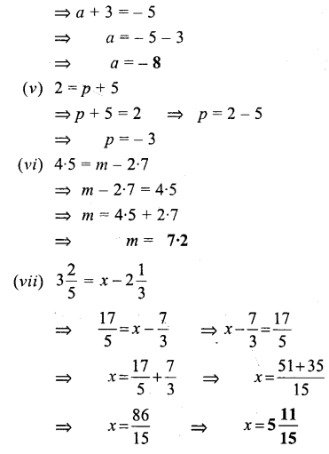 Selina Concise Mathematics Class 6 ICSE Solutions - Simple (Linear) Equations (Including Word Problems) - a5s.