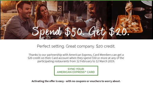 AMEX + The Fork offer