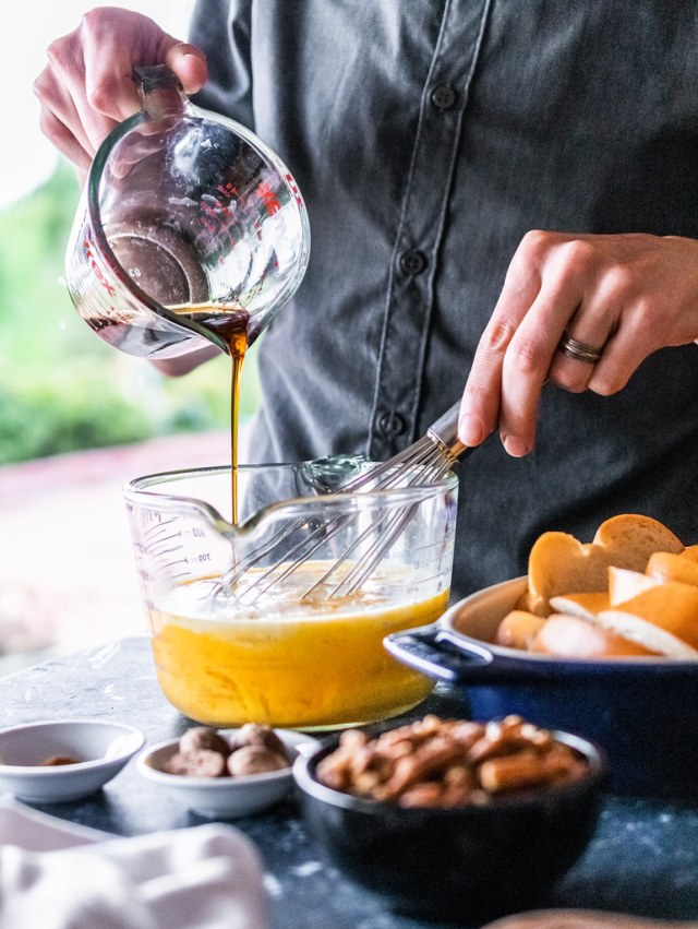 you can mix everything in a large measuring cup for easy pouring