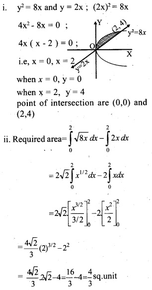 Plus Two Maths Chapter Wise Questions and Answers Chapter 8 Application of Integrals 21