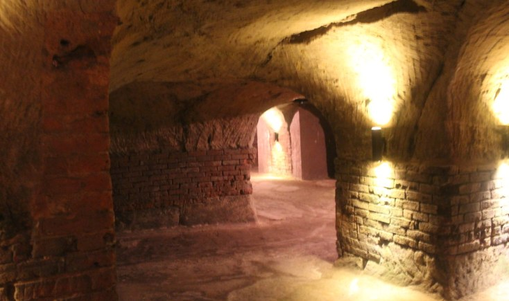 Underground rock-cut beer cellars, Nuremberg, Germany