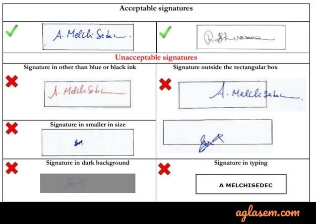 iift  signature specifications
