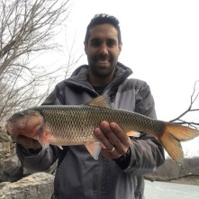 Photo of angler with record fallfish he caught