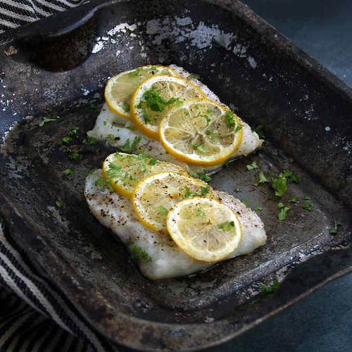 Keto Cod Recipe with Black Pepper and Lemon