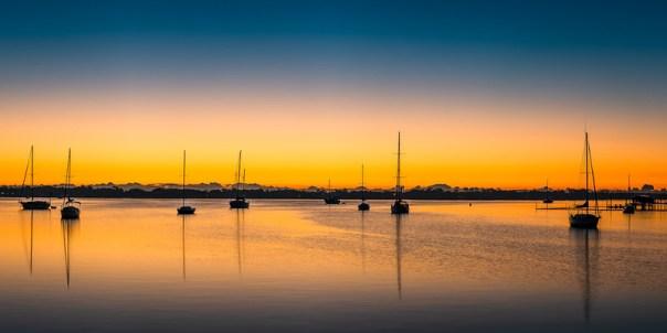 Dawn in the harbor