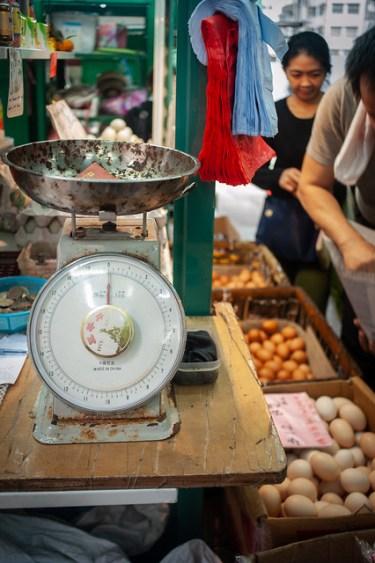 Hong Kong Family Travel Graham Street Market Egg Vendor