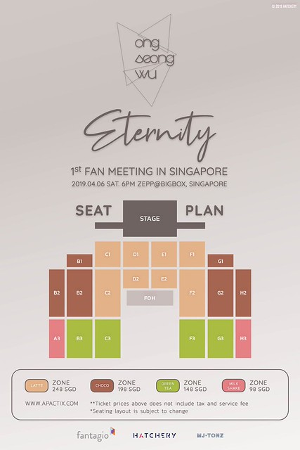 Ong Seong Wu Eternity in SG Seating Plan