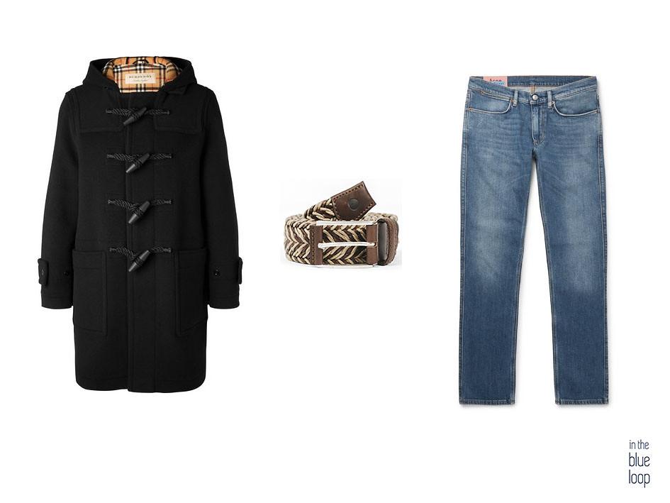 Look casual con trenca, cinturón Sabina de blue hole y jeans o vaqueros