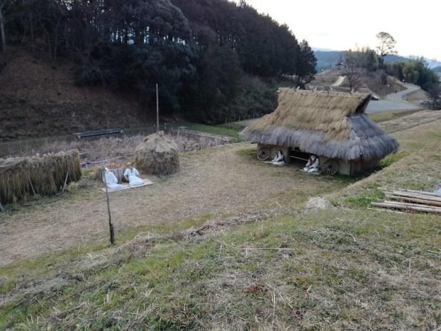 Reconstrucción de un poblado del periodo Asuka a escala real.