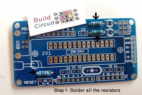 Step 1- Solder all the resistors