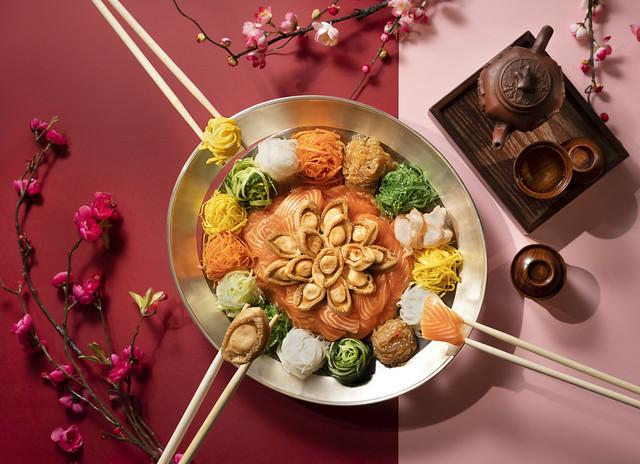 UK CNY Dish - Abalone & Salmon Lo Hei
