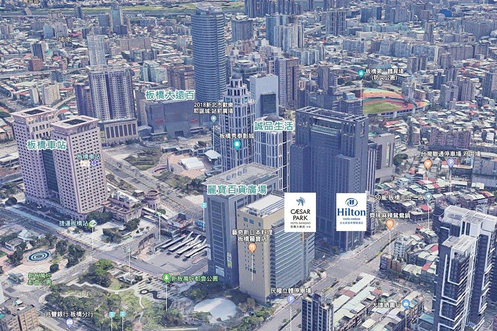 Hilton Taipei Sinban Hotel Map