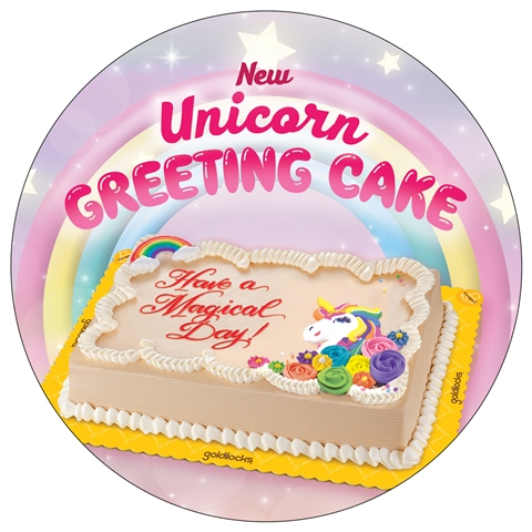 Goldilocks Unicorn Wobbler-Greeting-Cake