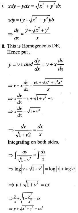 Plus Two Maths Chapter Wise Questions and Answers Chapter 9 Differential Equations 54