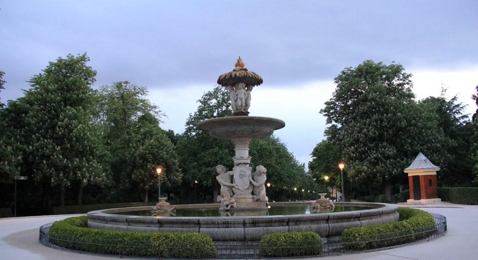 Fuente de la Alcachofa Plaza de la República de Honduras Parque del Retiro Madrid 03