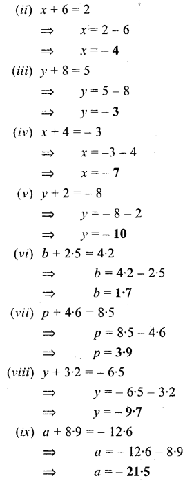 Selina Concise Mathematics Class 6 ICSE Solutions - Simple (Linear) Equations (Including Word Problems) - a1s.
