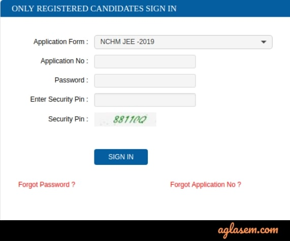 NCHMCT JEE 2021 Admit Card