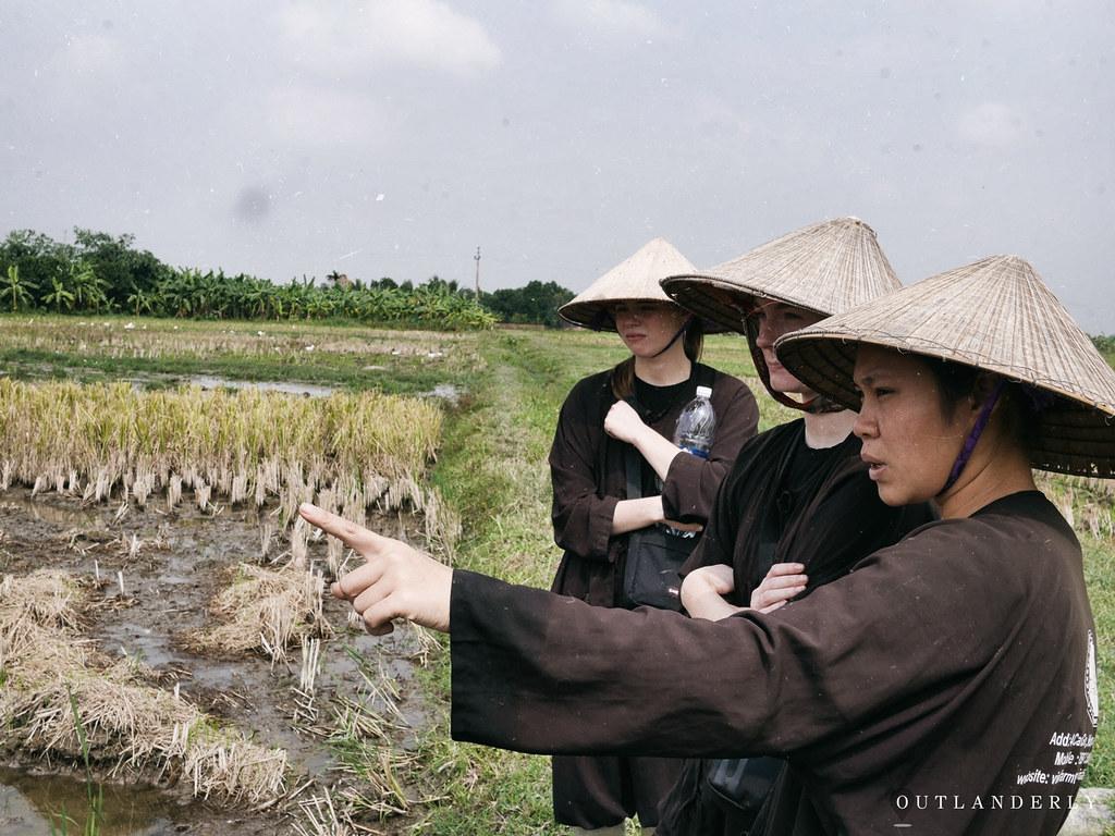 Farmer and tourists Viet Fram Trip