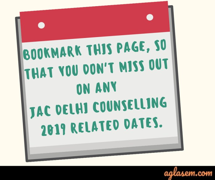JAC Delhi Counselling 2019 dates