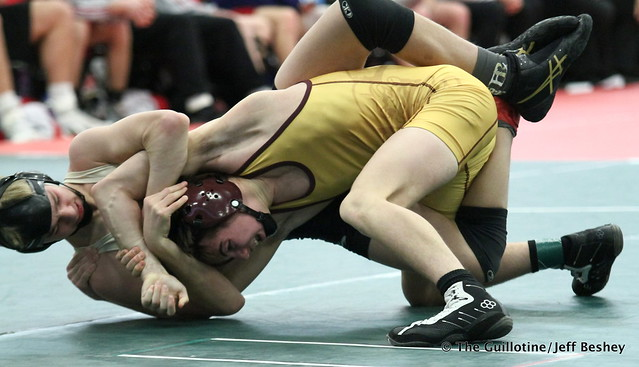 120 - Jake Messner (Northfield) over Vito Massa (East Ridge) Maj 11-0. 190105AJF0224