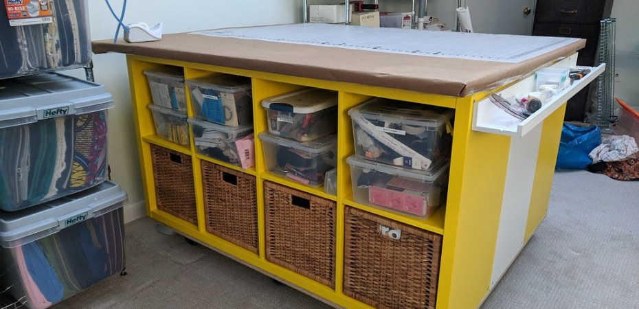 Ikea Kallax Cutting Sewing Table Hack Miss Celie S Pants