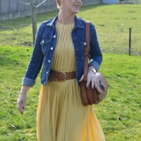 Outfit of the week: Yellow dress (still longing for spring I guess!)