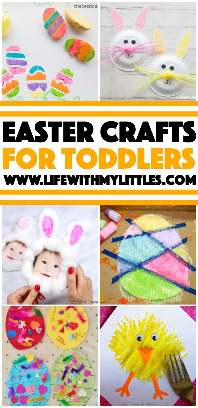 Over 15 adorable and simple Easter crafts for toddlers! These are so perfect for little hands to make! If you're looking for crafts for toddlers to do leading up to Easter, look no further!