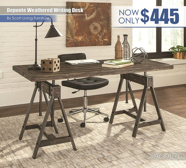 Deponte Weathered writing desk_Scott Living_801771