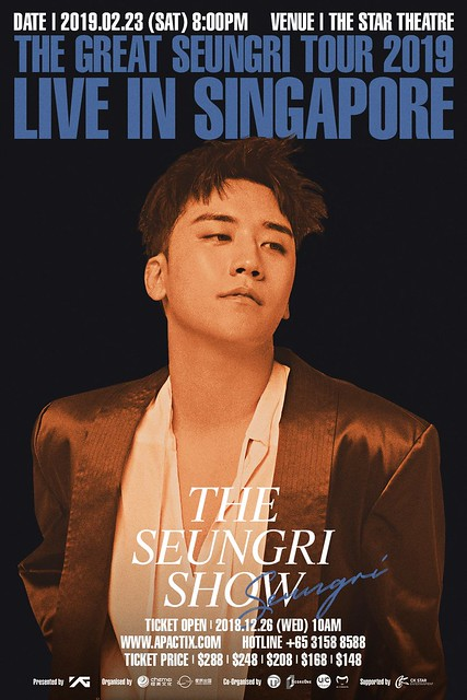 THE GREAT SEUNGRI TOUR 2019 LIVE IN SINGAPORE