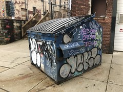 Dumpster at E. Oliver Street and Barclay Street (southwest corner), Baltimore, MD 21202
