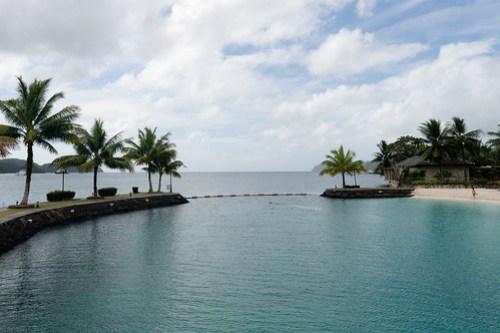Relaxing beach at Palau Royal Resort
