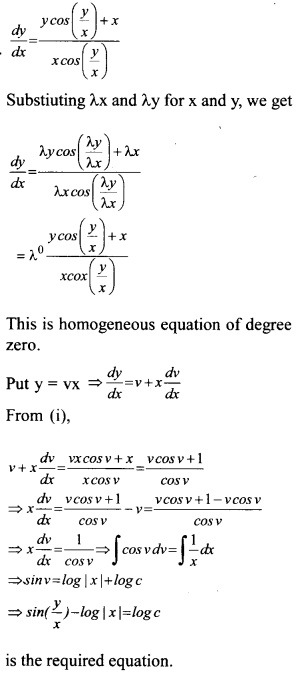 Plus Two Maths Chapter Wise Questions and Answers Chapter 9 Differential Equations 39