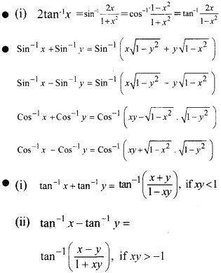 Plus Two Maths Notes Chapter 2 Inverse Trigonometric Functions